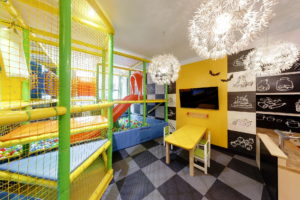 Children's play area shared with the Bruxx restaurant