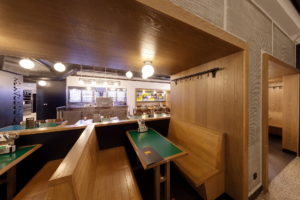 Back section of the restaurant with seating cubicles, its own taproom and possible reservation for a private party